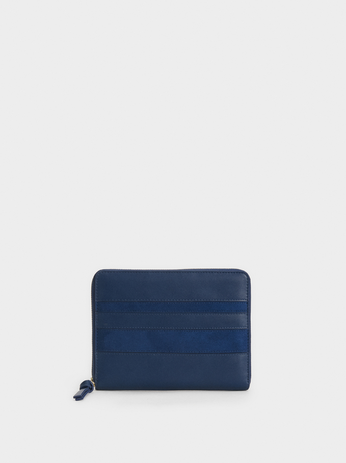 Patchwork Diary, Navy, hi-res
