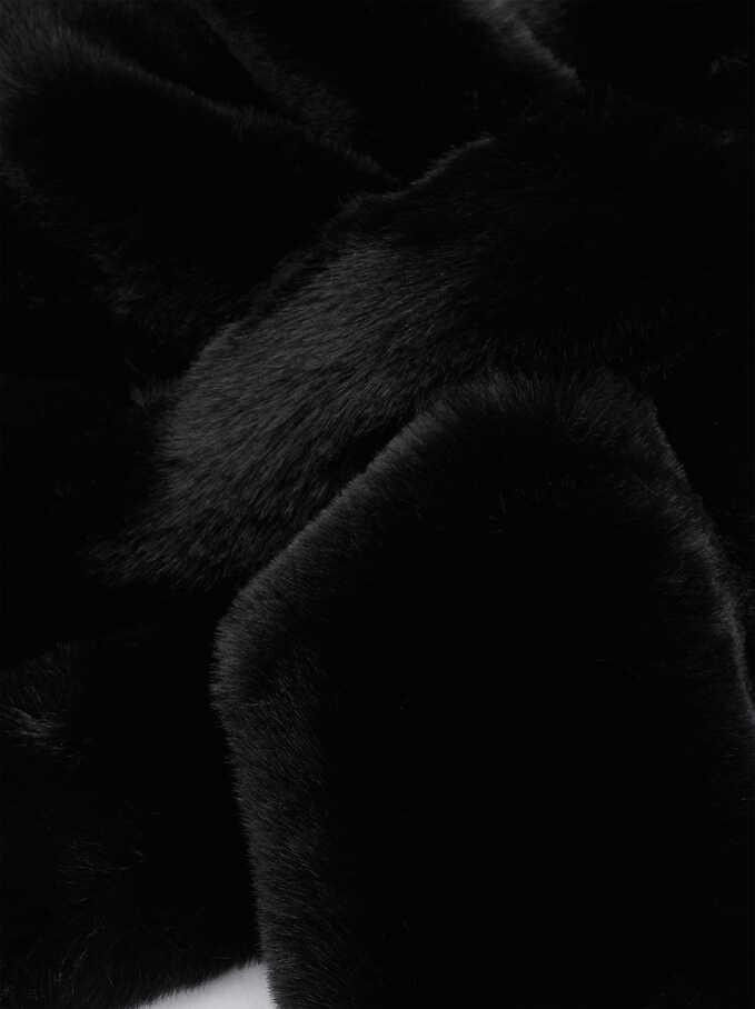 Fur Stole, Black, hi-res