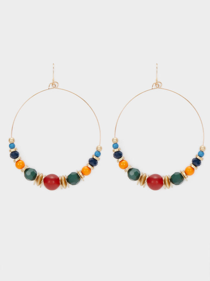 Long Multicoloured Earrings, , hi-res