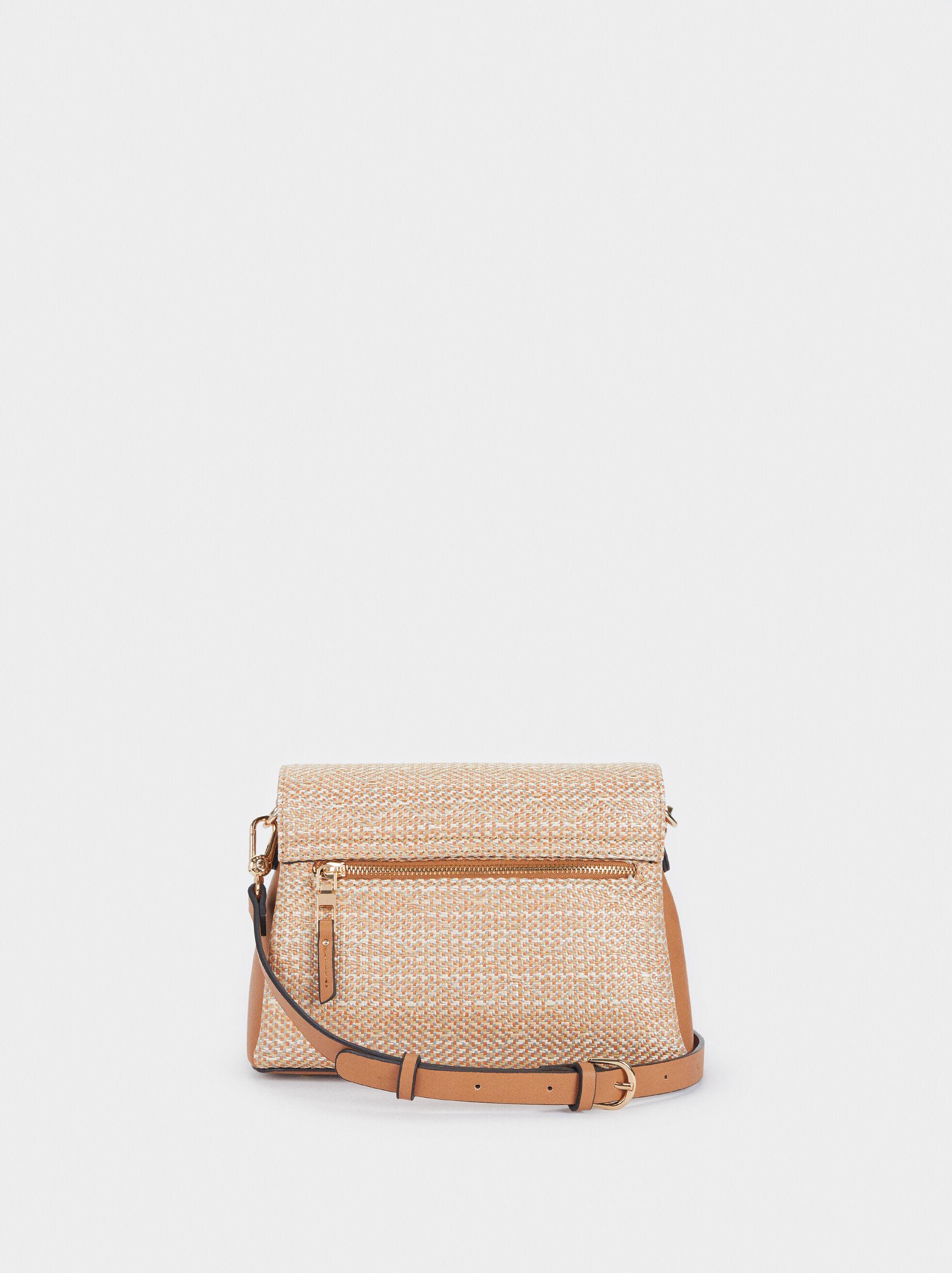 Raffia Textured Crossbody Bag, Pink, hi-res