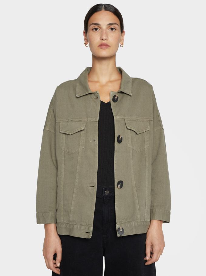 Jacket With Button Details, Khaki, hi-res