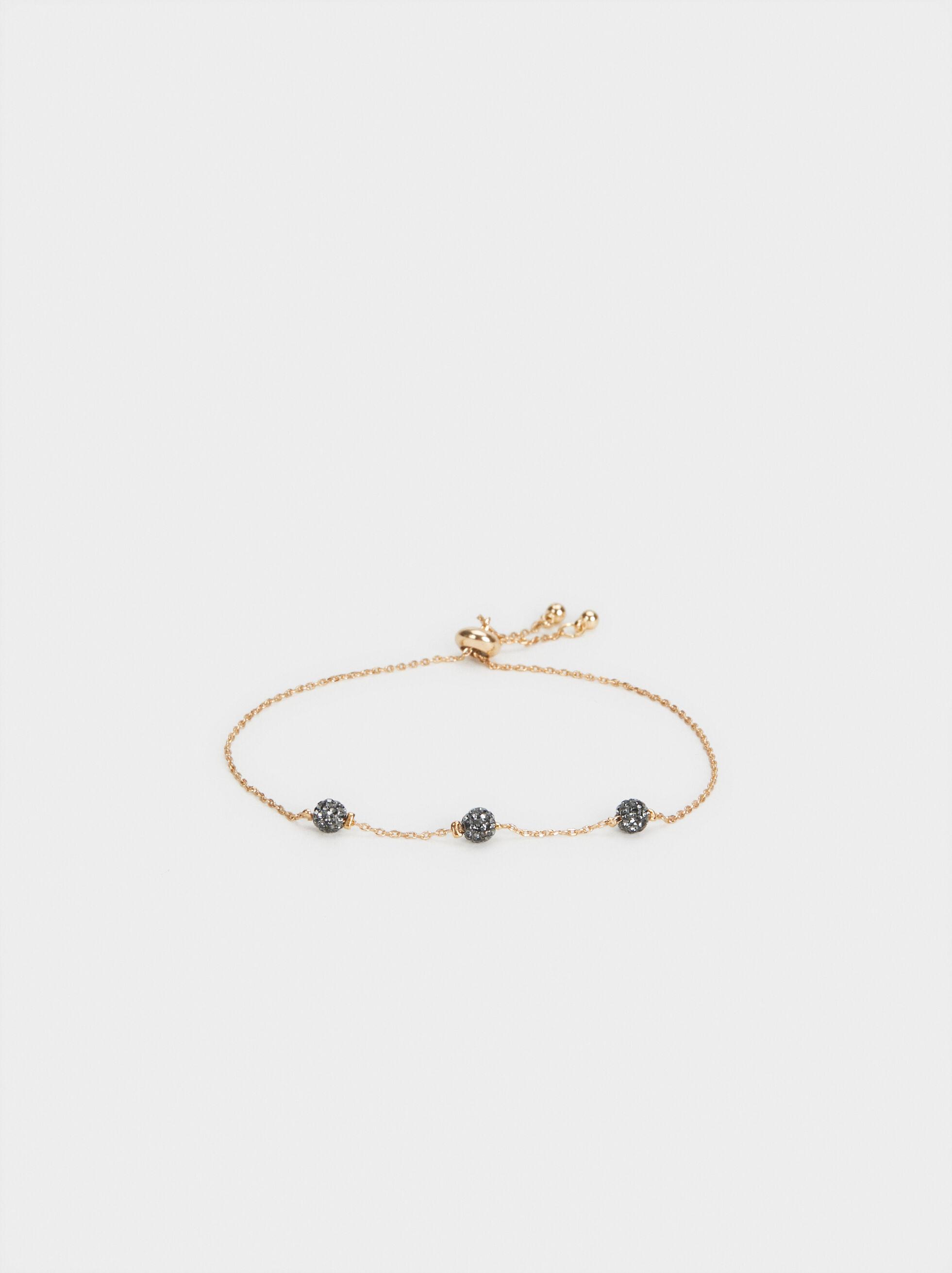 Adjustable Bracelet With Faux Diamond Clusters, , hi-res