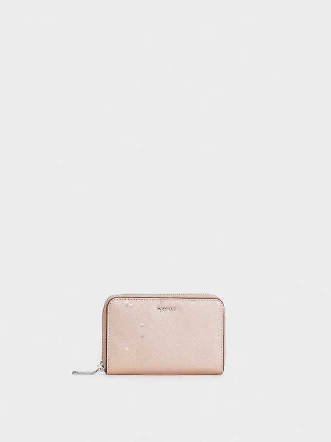 Zipped Purse, Orange, hi-res