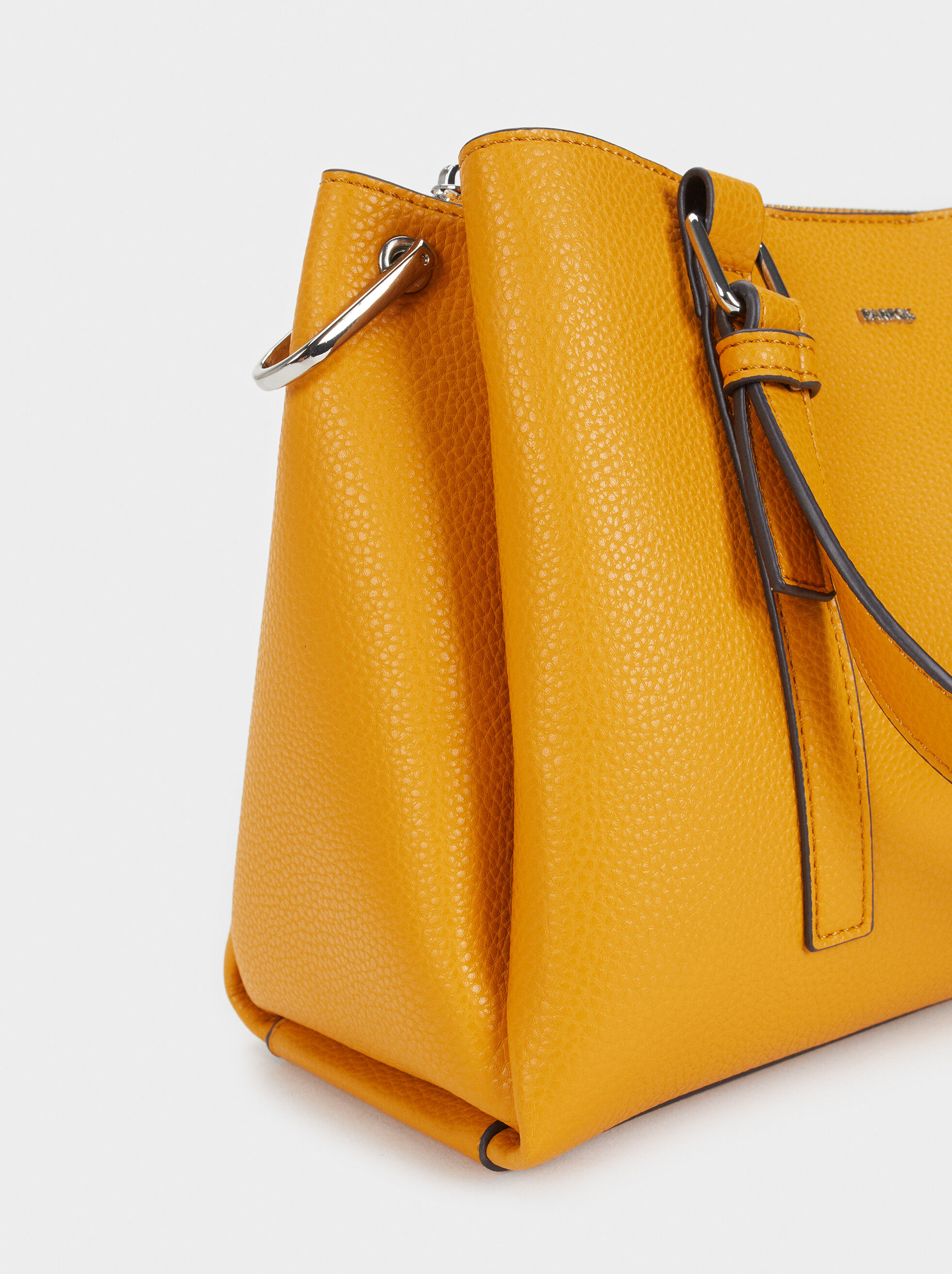 Tote Bag With Shoulder Strap, Mustard, hi-res