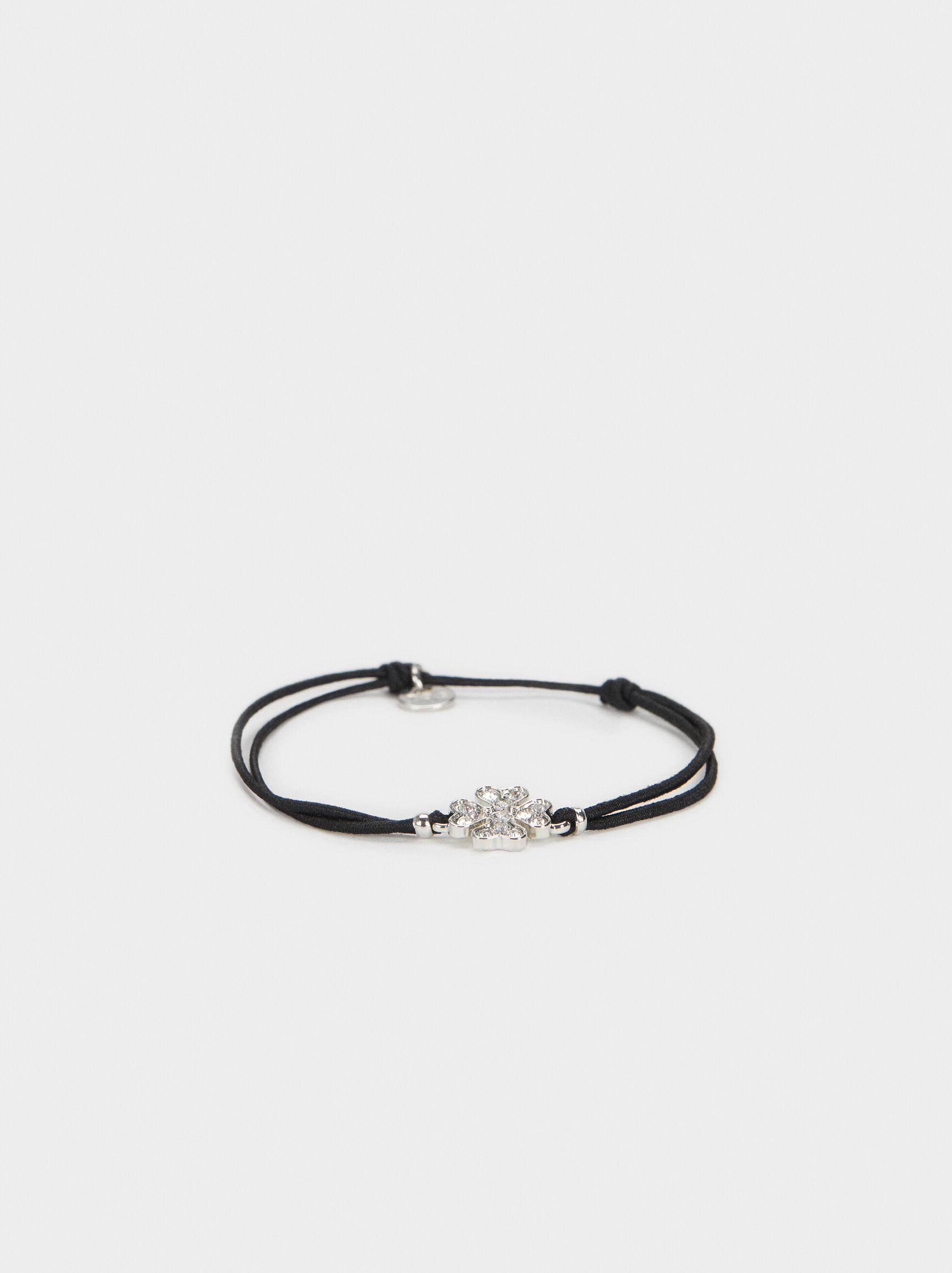 Black And Red Elastic Bracelet, , hi-res