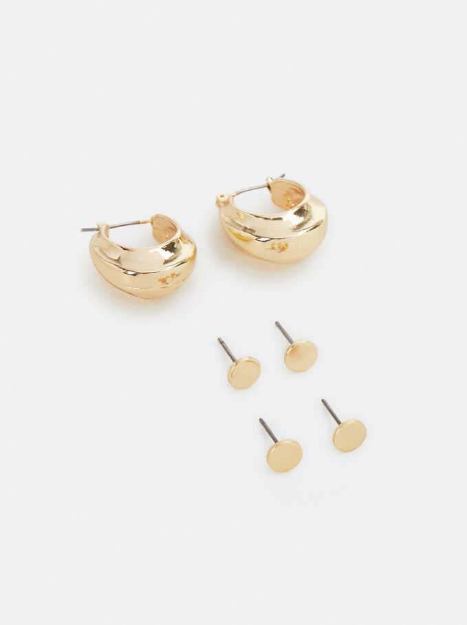 Golden Basics Hoop-Earrings, Golden, hi-res