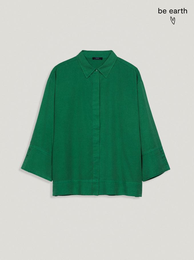 Chemise 100% Lyocell, Vert, hi-res