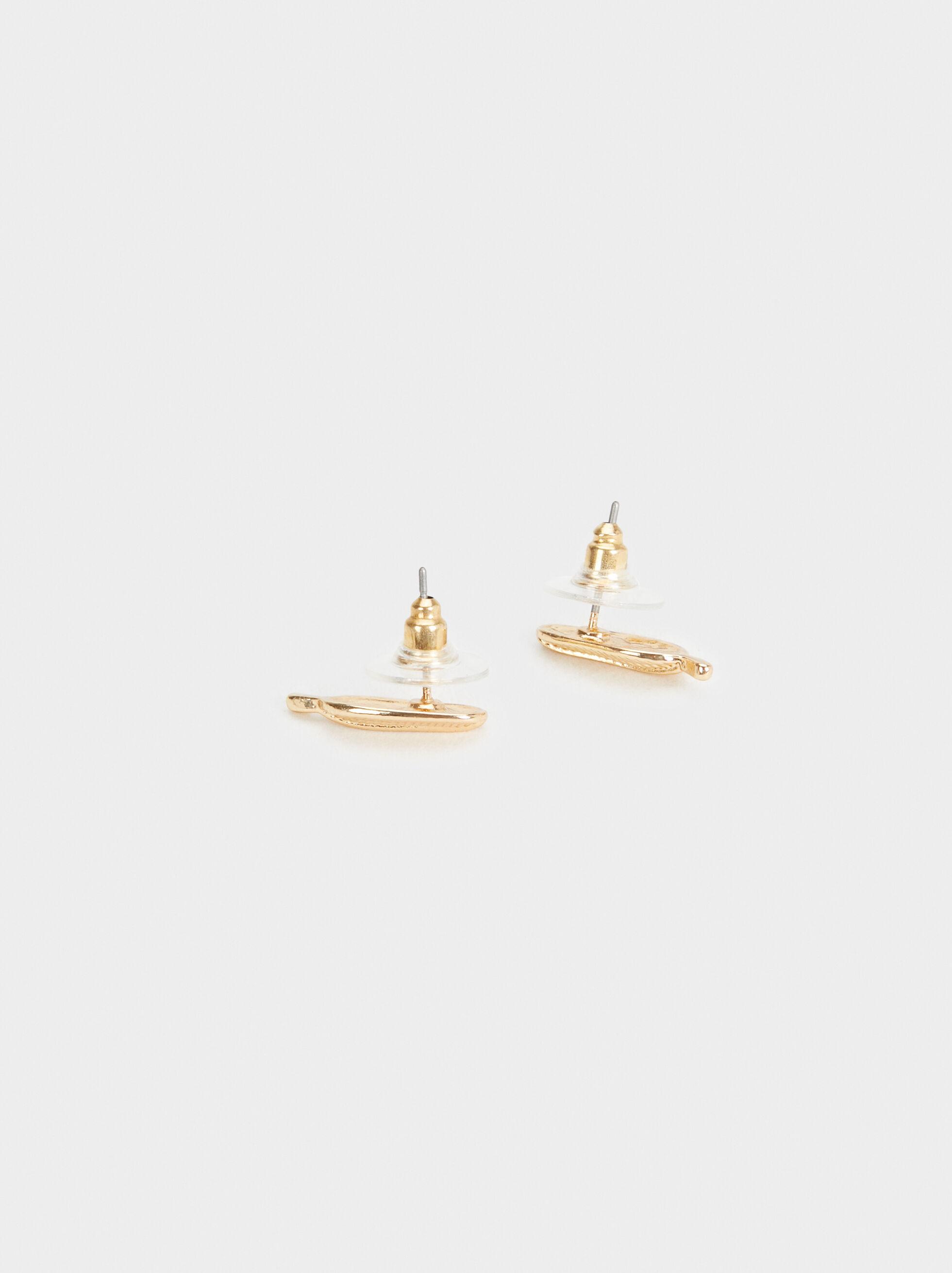 Brincos Golden Basics, Dourado, hi-res