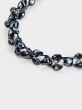 Savage Sparkle Short Necklace, Blue, hi-res