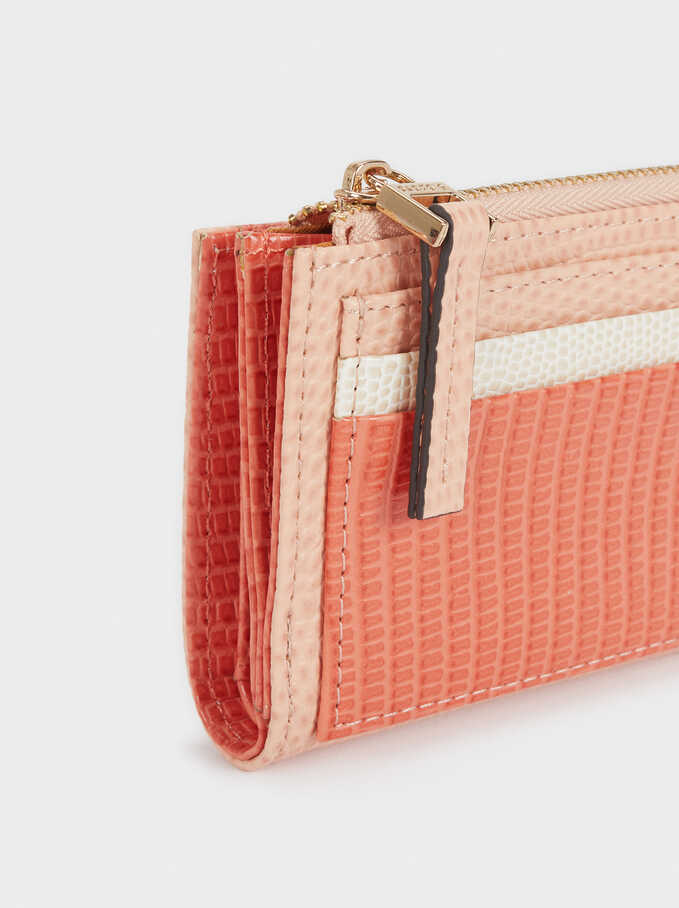 Compact Wallet With Card Holder, Pink, hi-res