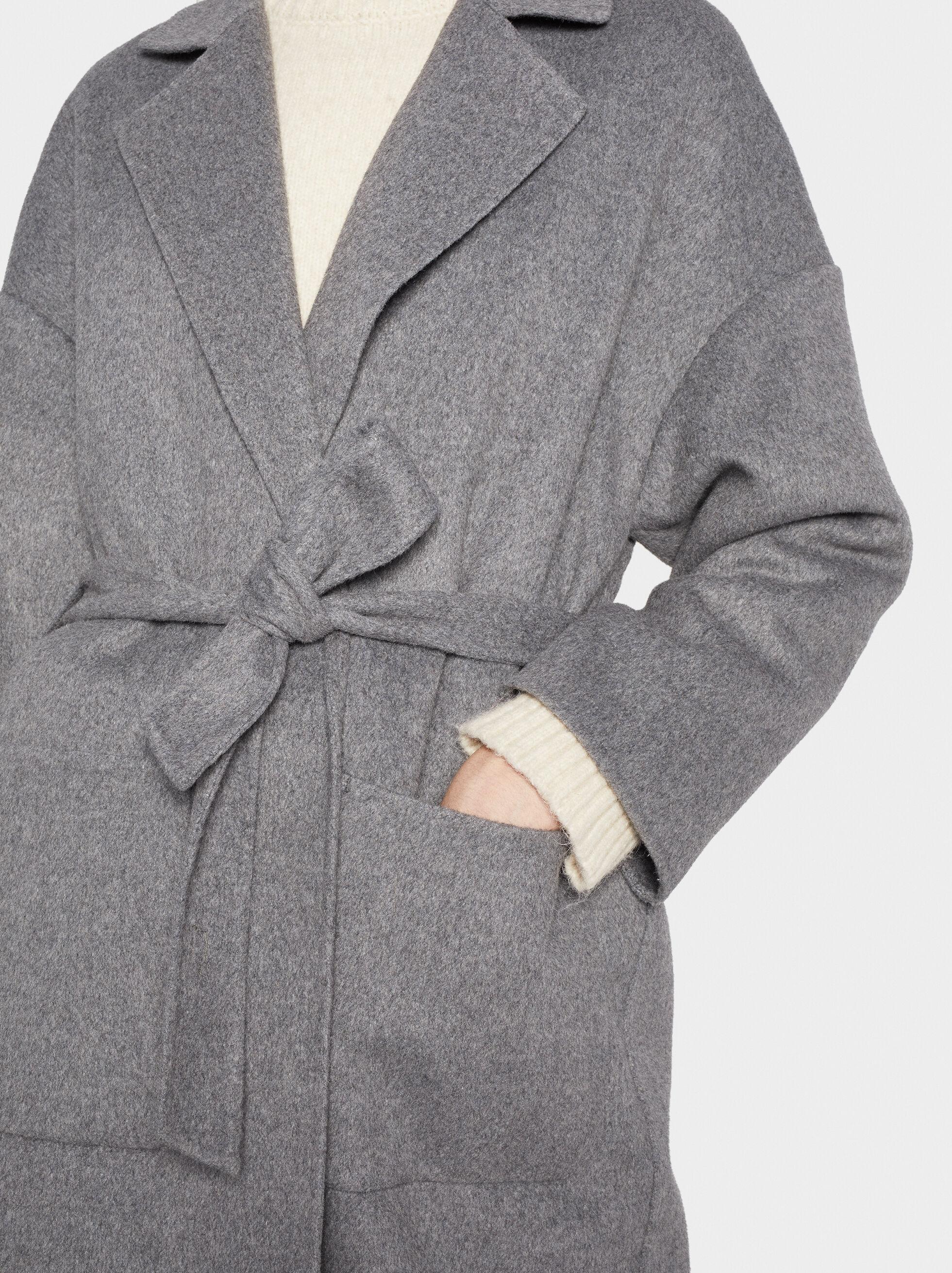 Coat With Belt, Grey, hi-res