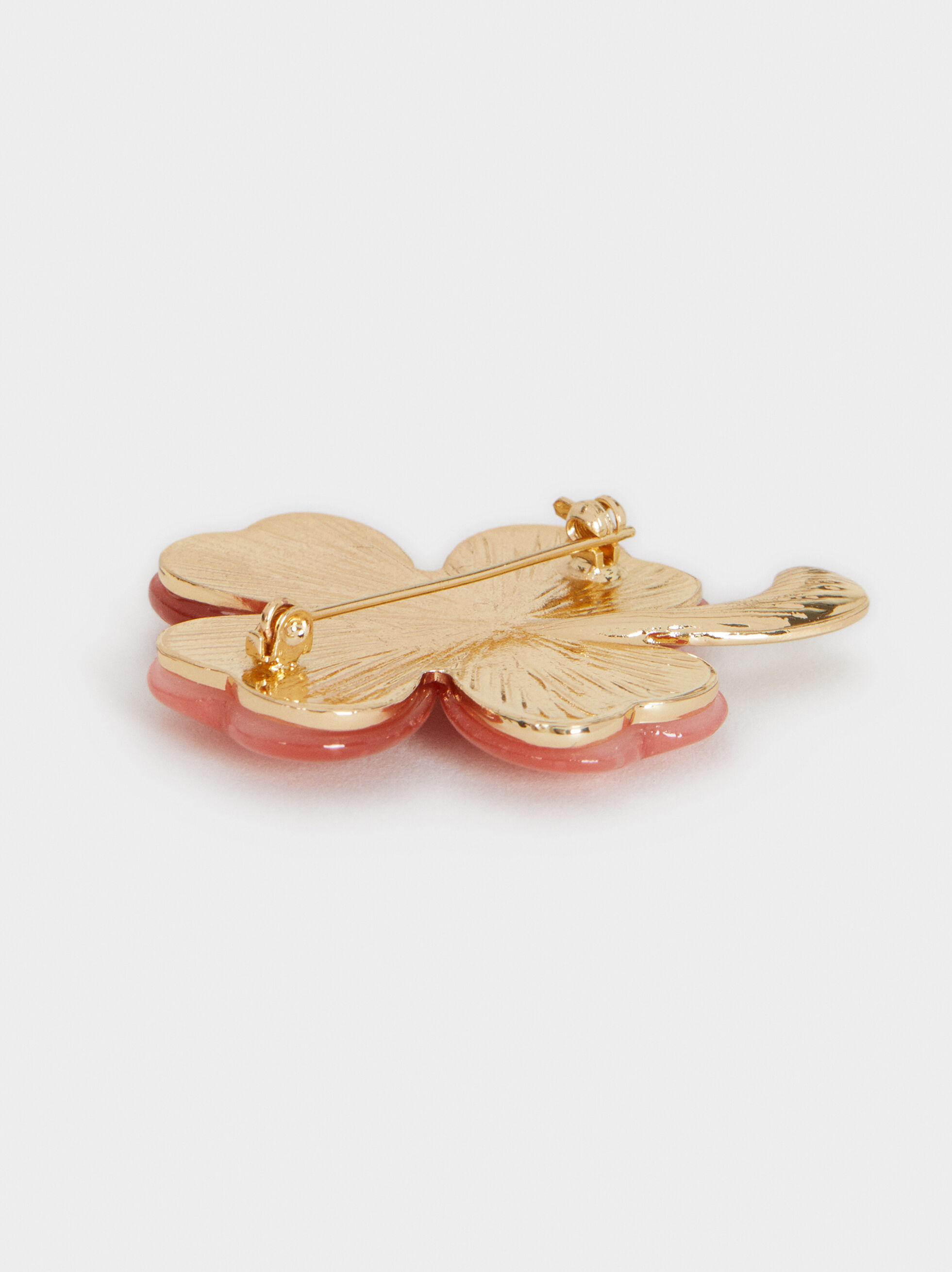 Clover Brooch, Pink, hi-res