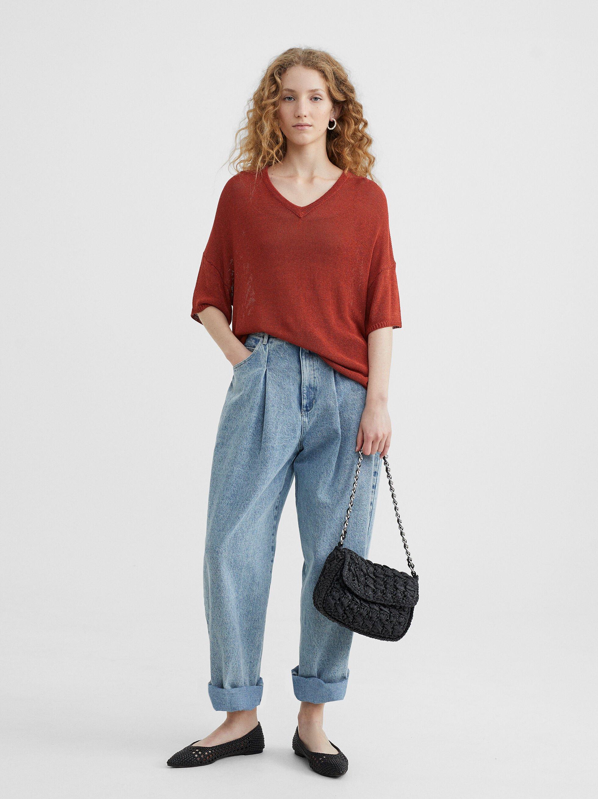 V-Neck Sweater, , hi-res
