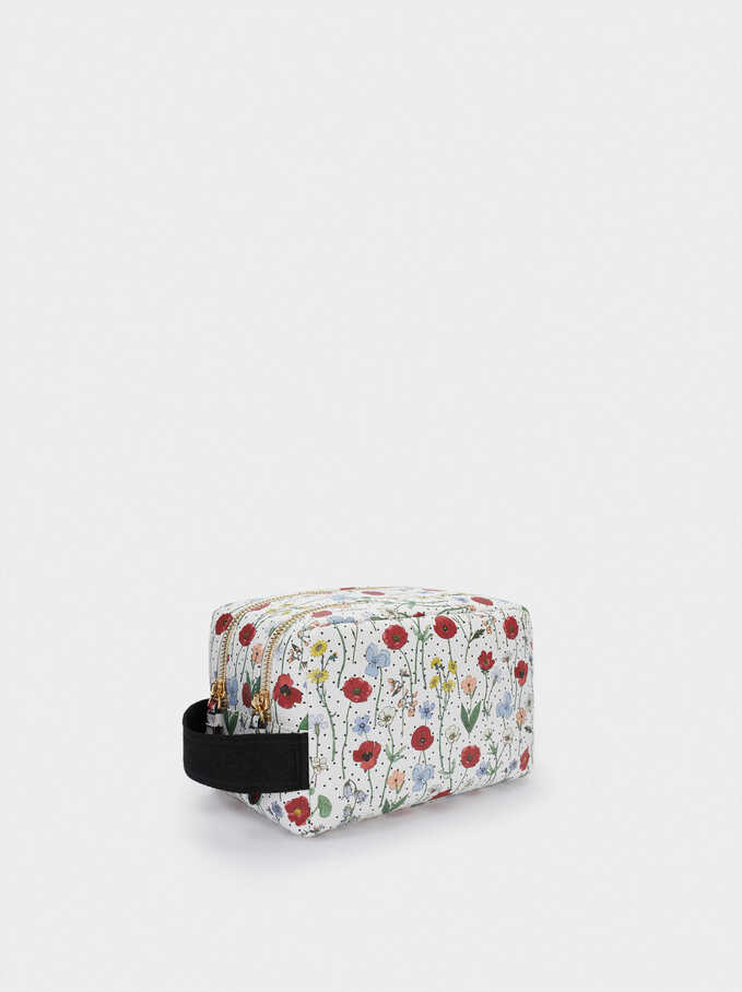 Floral Print Multi-Purpose Bag, Red, hi-res