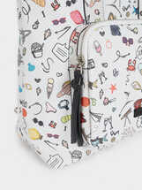 Multi-Coloured Printed Backpack, Black, hi-res