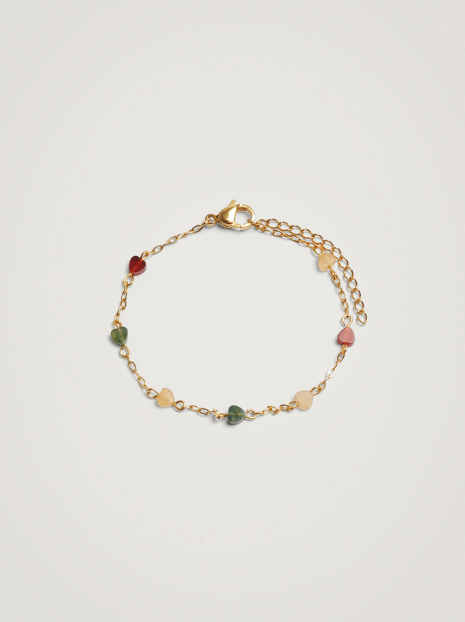 Steel Bracelet With Hearts, Multicolor, hi-res
