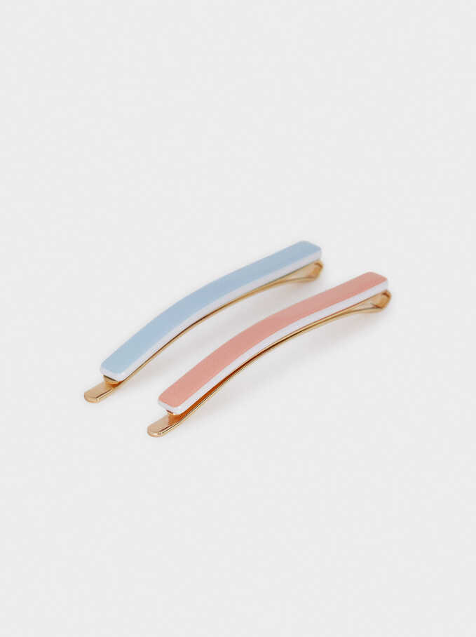 Set Of Hair Clips, Multicolor, hi-res