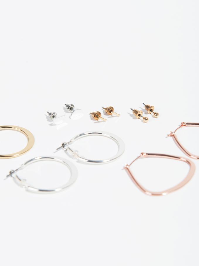 Basic Hoop-Earrings, Multicolor, hi-res