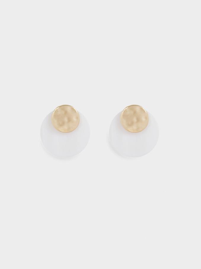 Small Seashell Earrings, Golden, hi-res