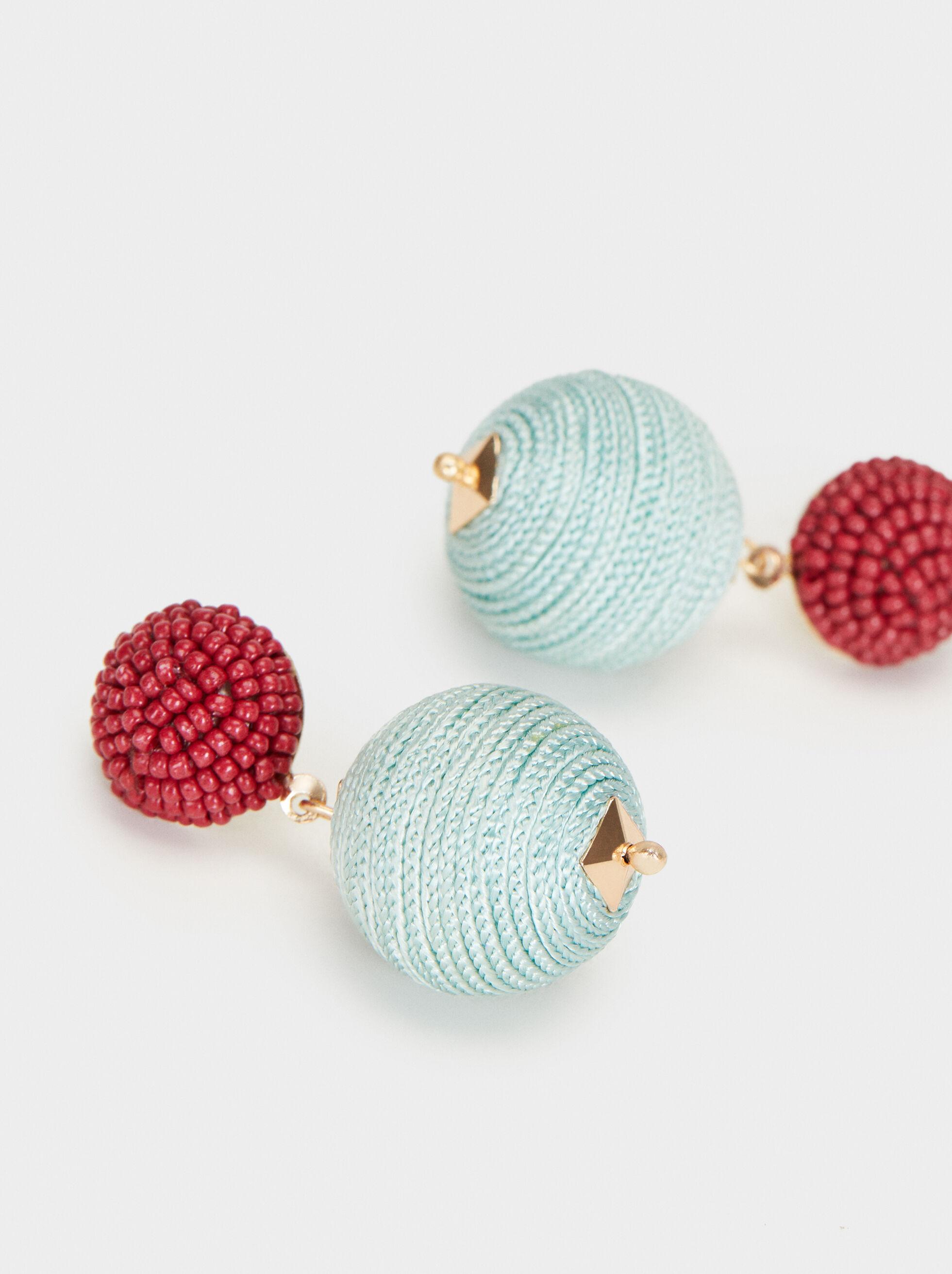Cherry Blossom Medium Earrings, Multicolor, hi-res