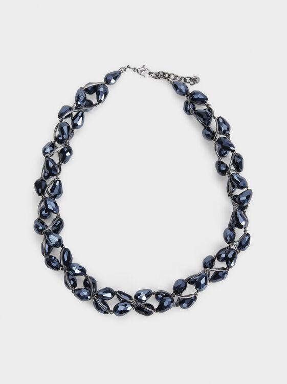 Savage Sparkle Short Necklace, Blue, hi-res