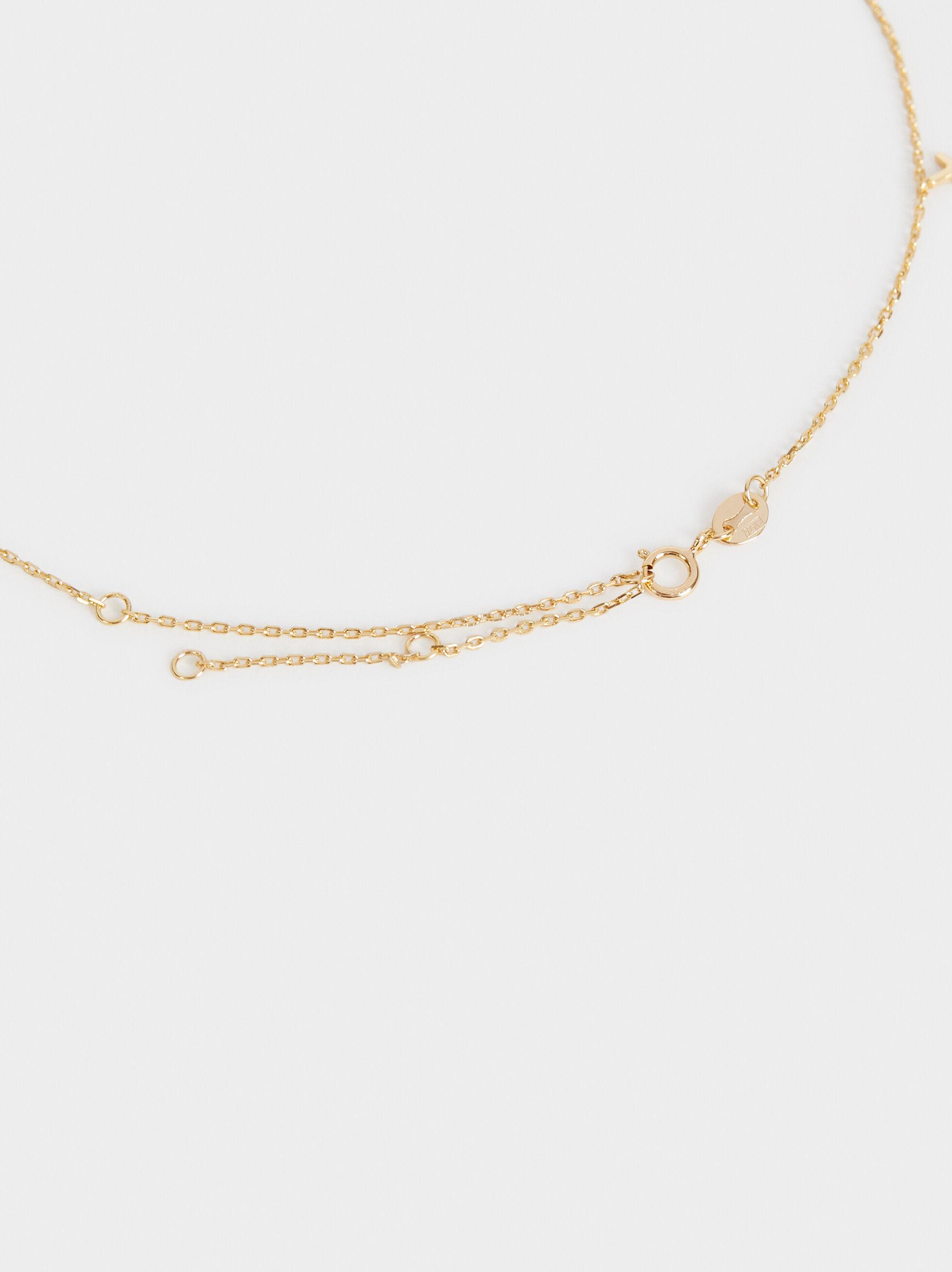 925 Sterling Silver Necklace, Golden, hi-res