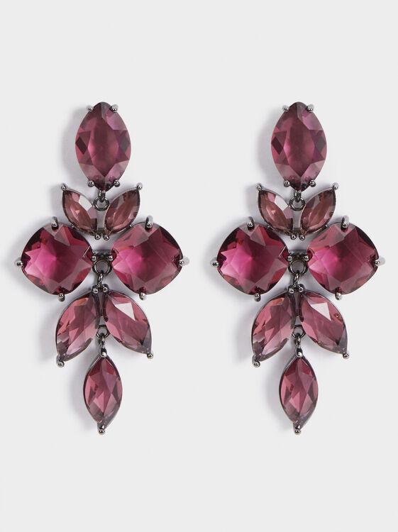 Sparkling Long Rhinestone Earrings, , hi-res