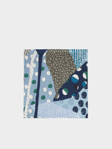 Multicoloured Print Square Handkerchief, , hi-res