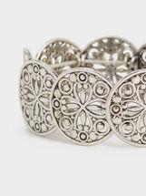 Basic Elastic Bracelet, Silver, hi-res