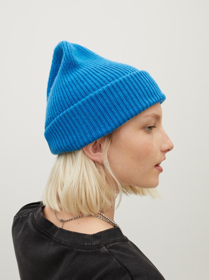 Bonnet En Maille Avec Revers Stay Cool, Bleu, hi-res