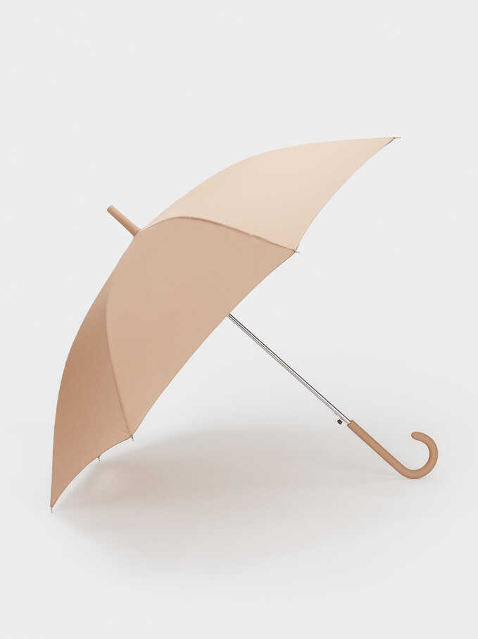 Plain Umbrella, Beige, hi-res