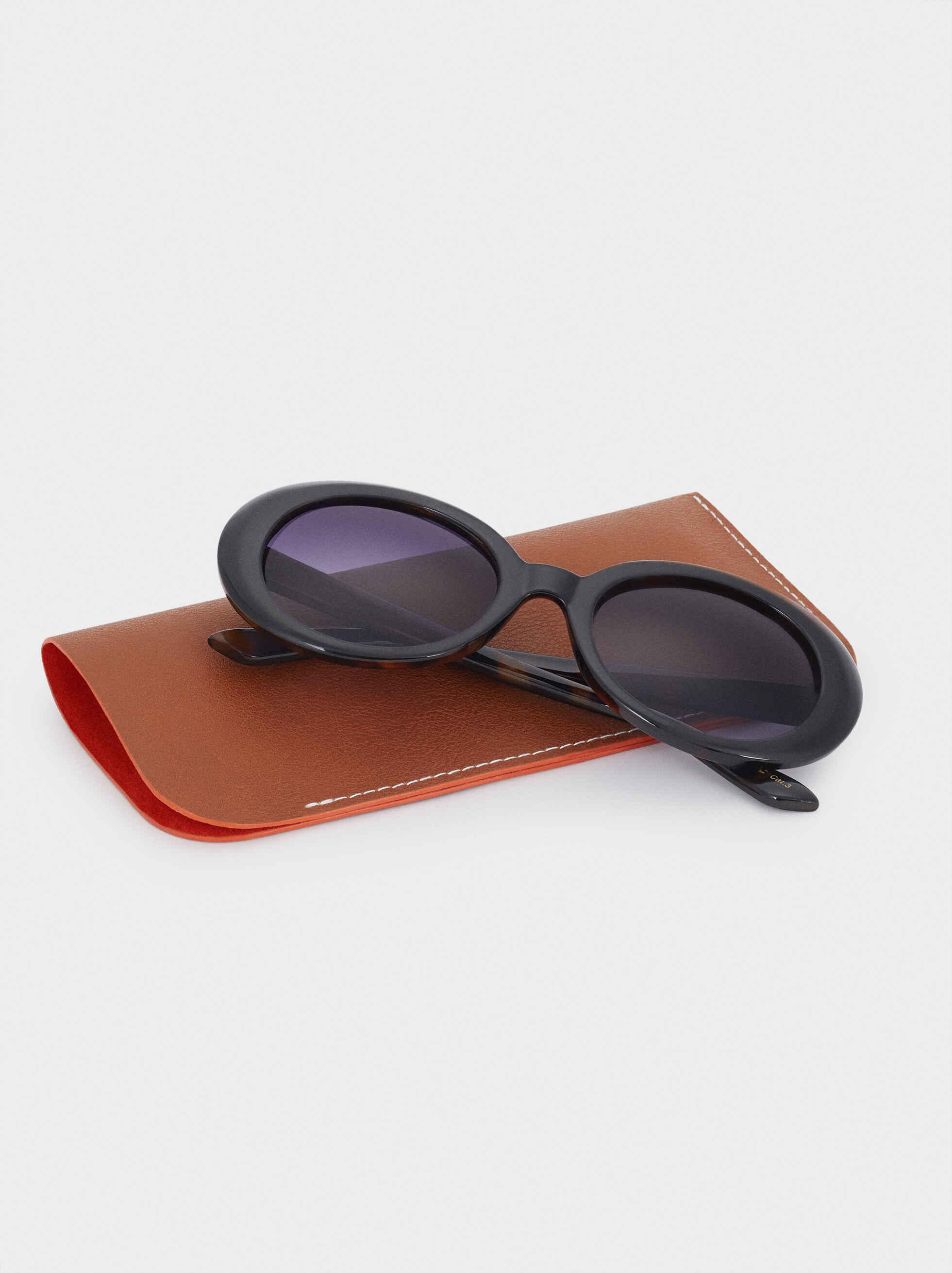 Gafas De Sol Ovaladas Pasta, Negro, hi-res