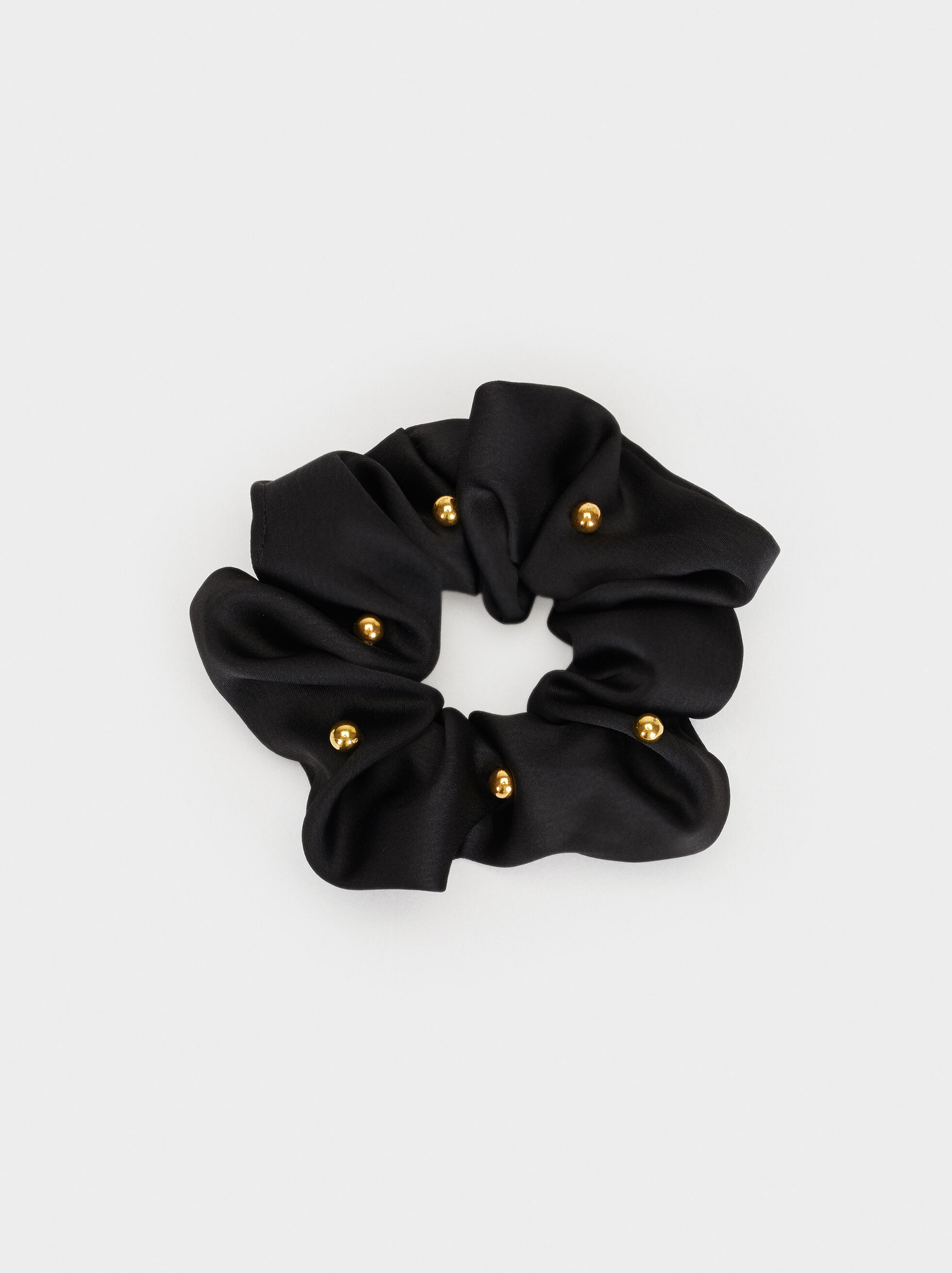 Hair Elastics With Beading, Black, hi-res