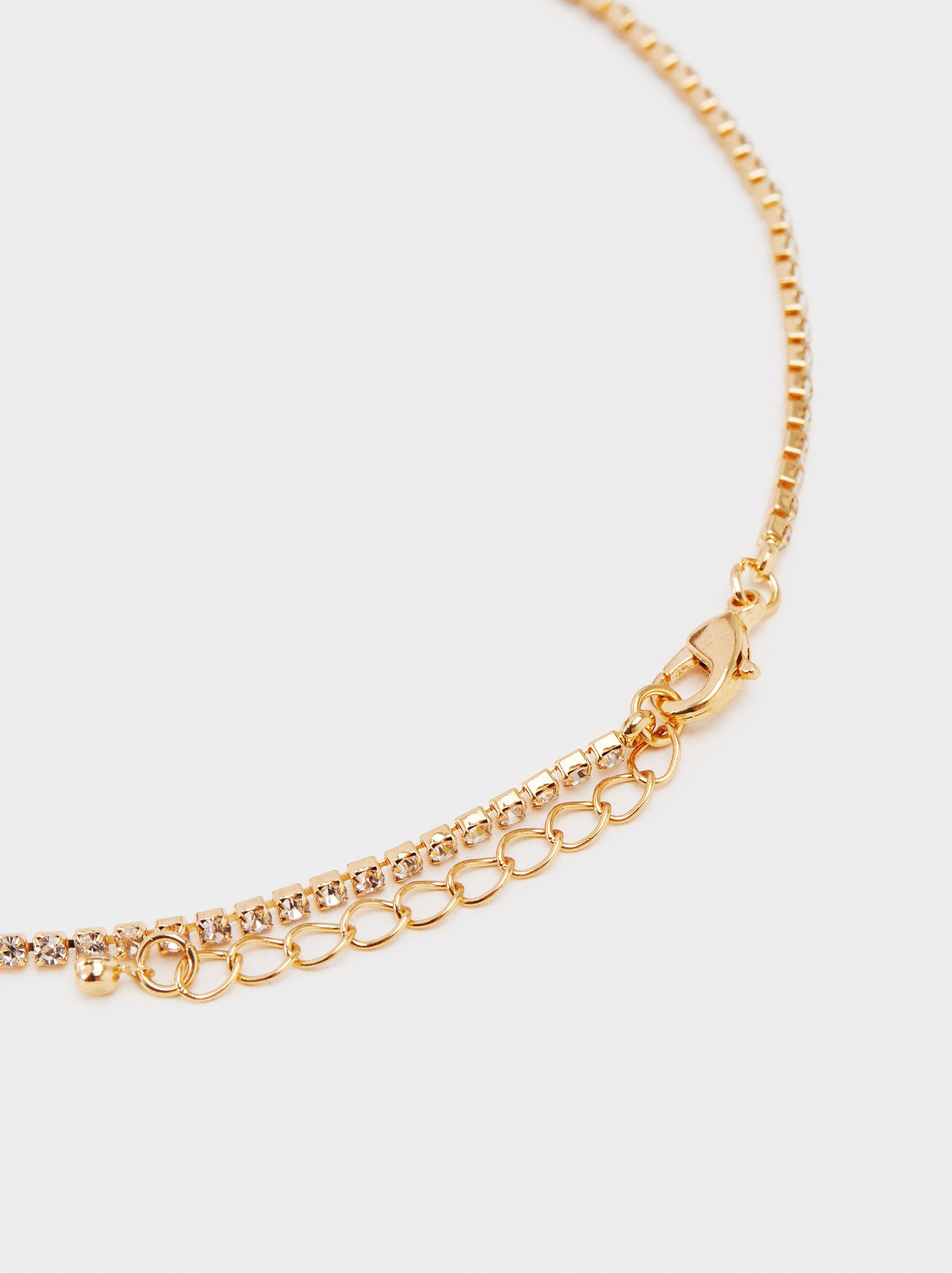 Long Shiny Necklace, Golden, hi-res