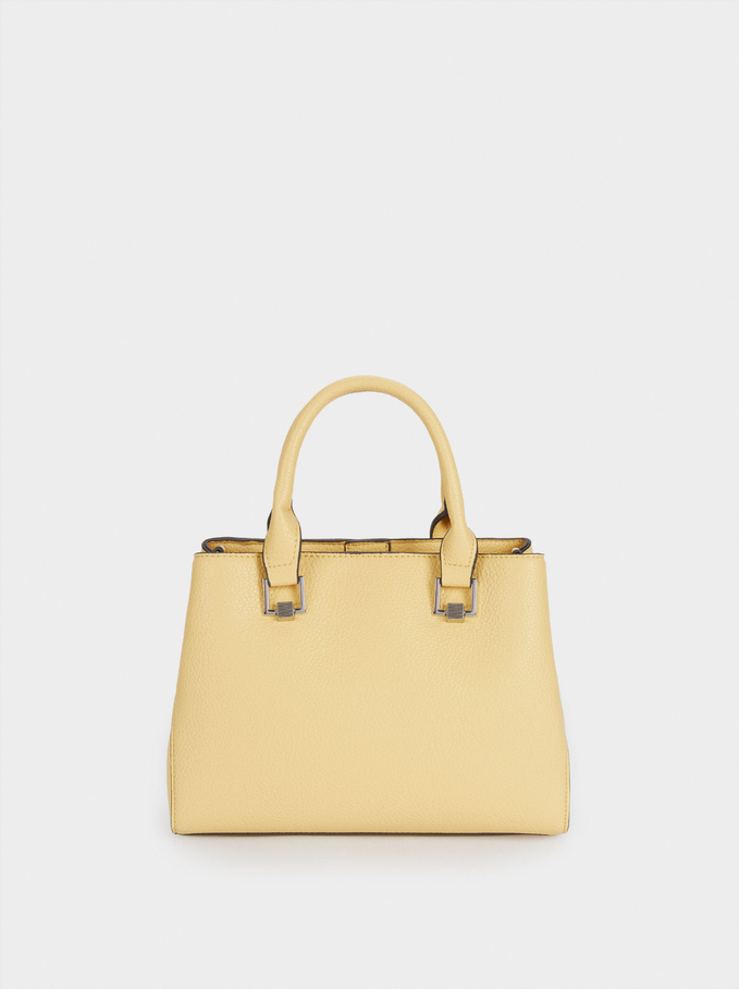 Tote Bag With Removable Shoulder Strap, Yellow, hi-res