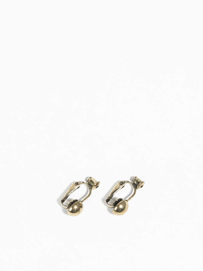 Earring Adapter, Golden, hi-res