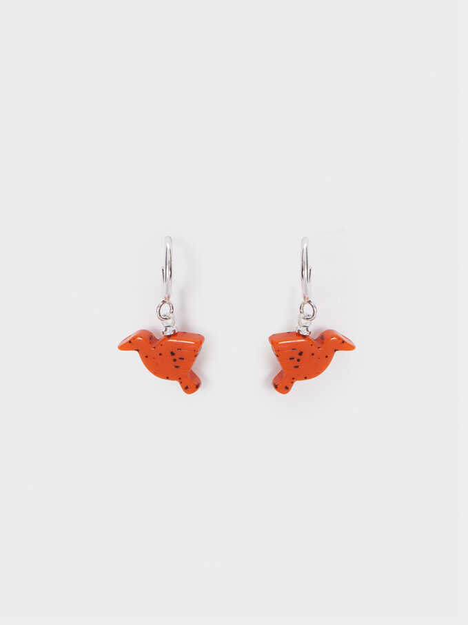 Star Valley Short Earrings, Brick Red, hi-res