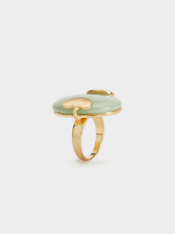 Green Beaded Ring, , hi-res