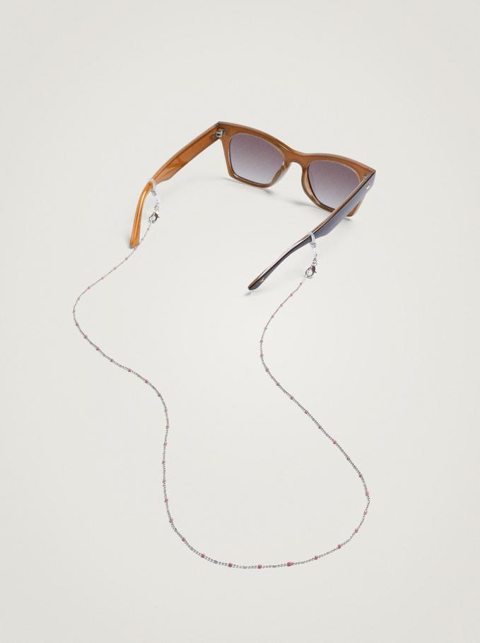 Chain For Face Masks Or Glasses, Pink, hi-res