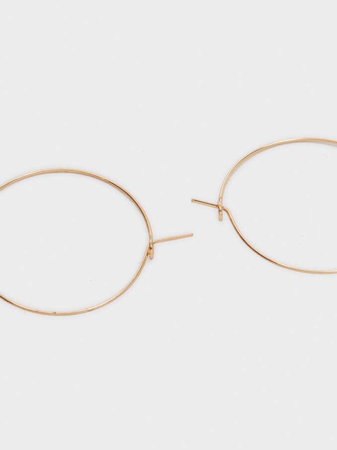 Recife Medium Hoop Earrings, Beige, hi-res