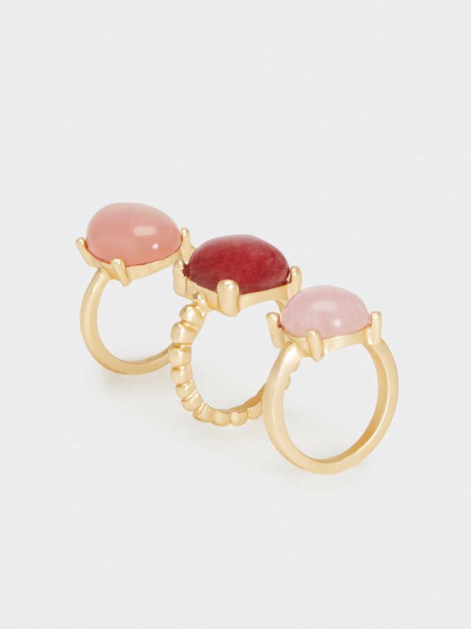 Multicoloured Stones Ring, Multicolor, hi-res