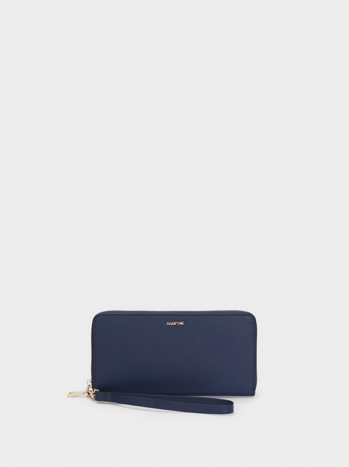 Plain Purse With Handle, Navy, hi-res