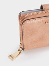 Plain Purse With Card Holder, Pink, hi-res
