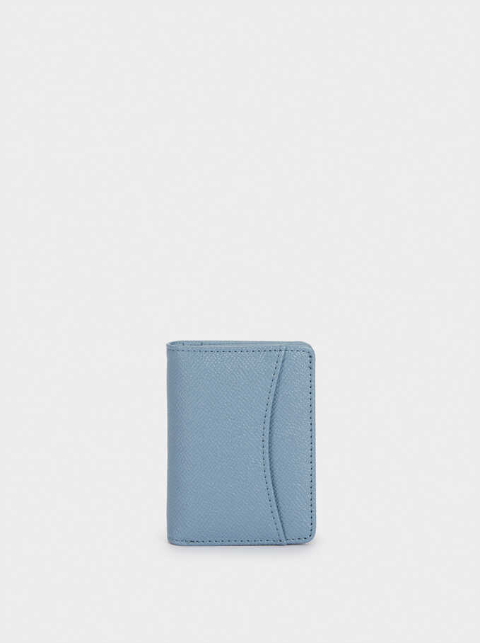 Plain Card Holder, Blue, hi-res