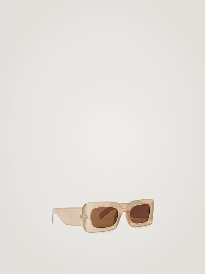 Square Frame Sunglasses, Pink, hi-res