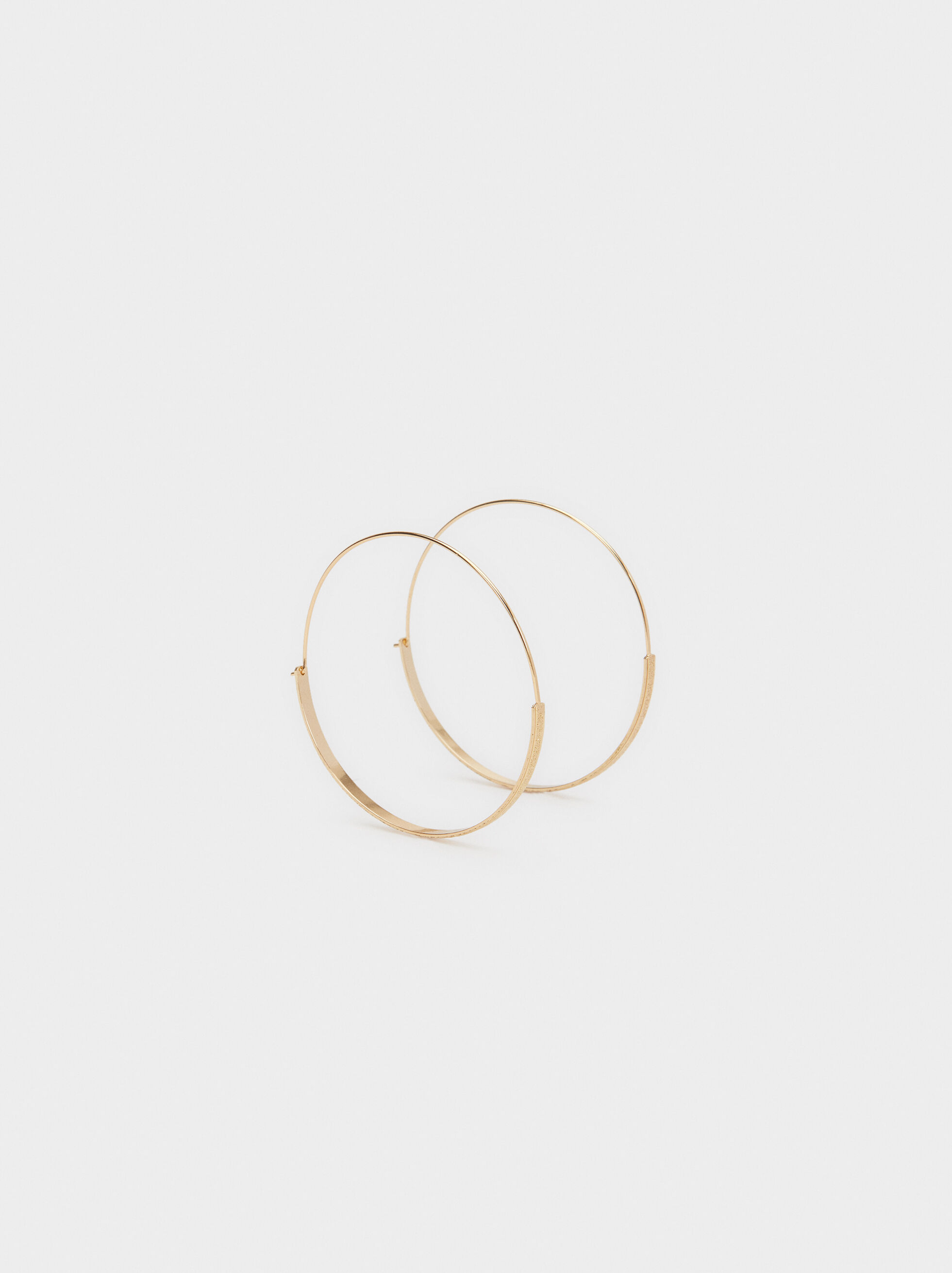 Basic Large Hoop Earrings, , hi-res