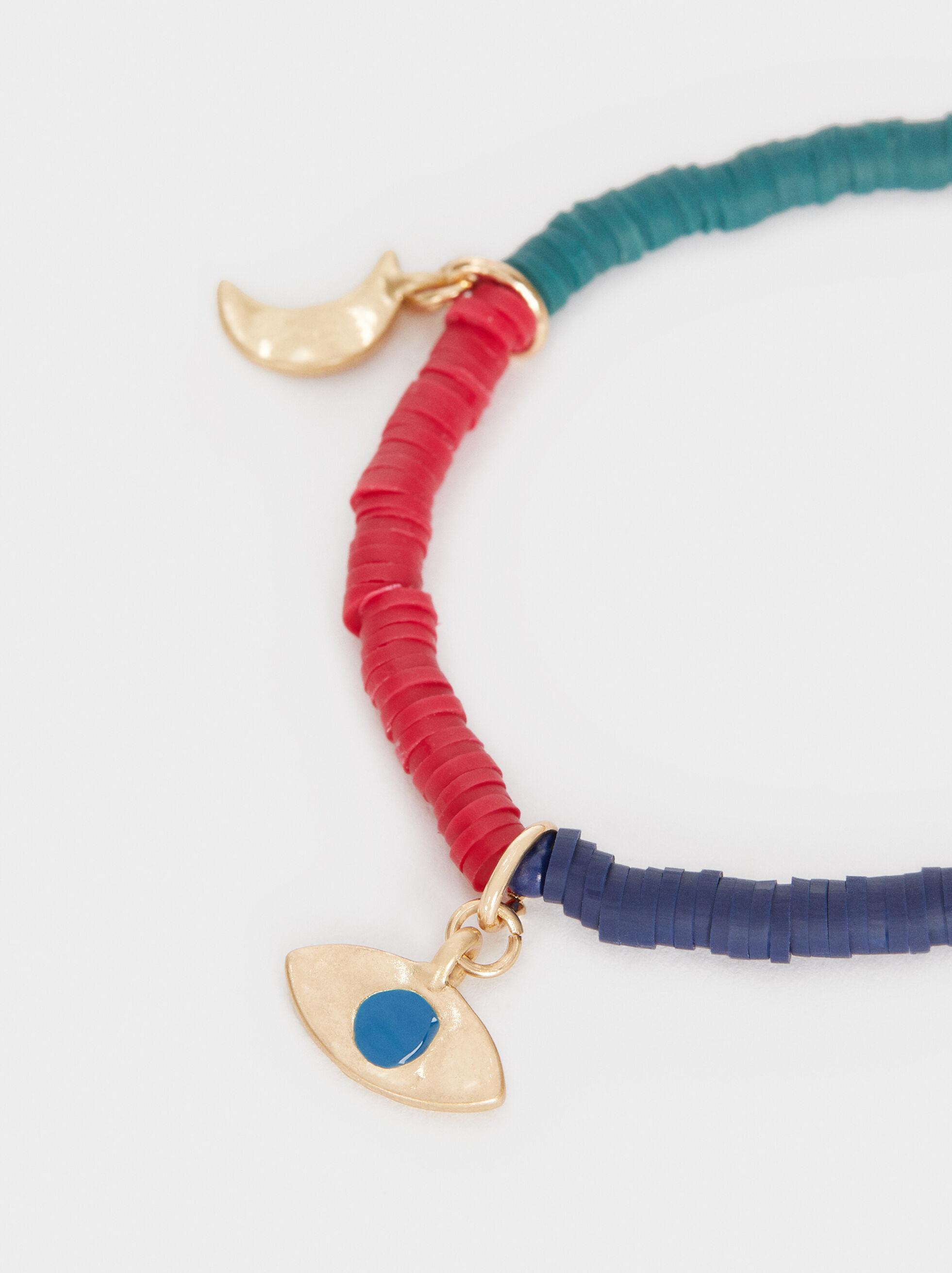 Multicoloured Elastic Bracelet, Multicolor, hi-res