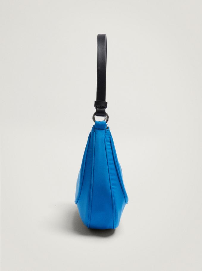 Bolso De Hombro De Náilon, Azul, hi-res