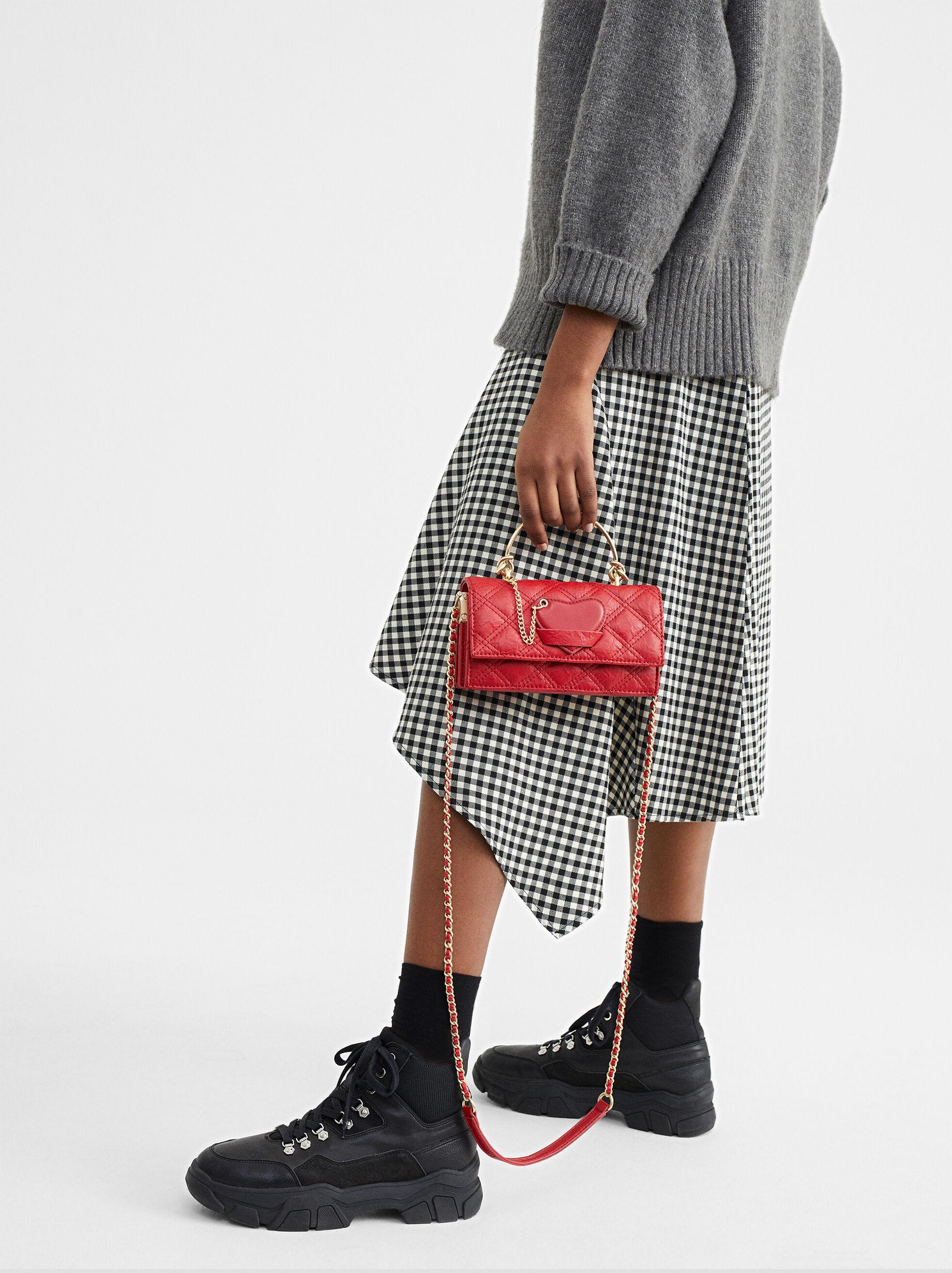 We Are Love Heart Shoulder Bag, Red, hi-res