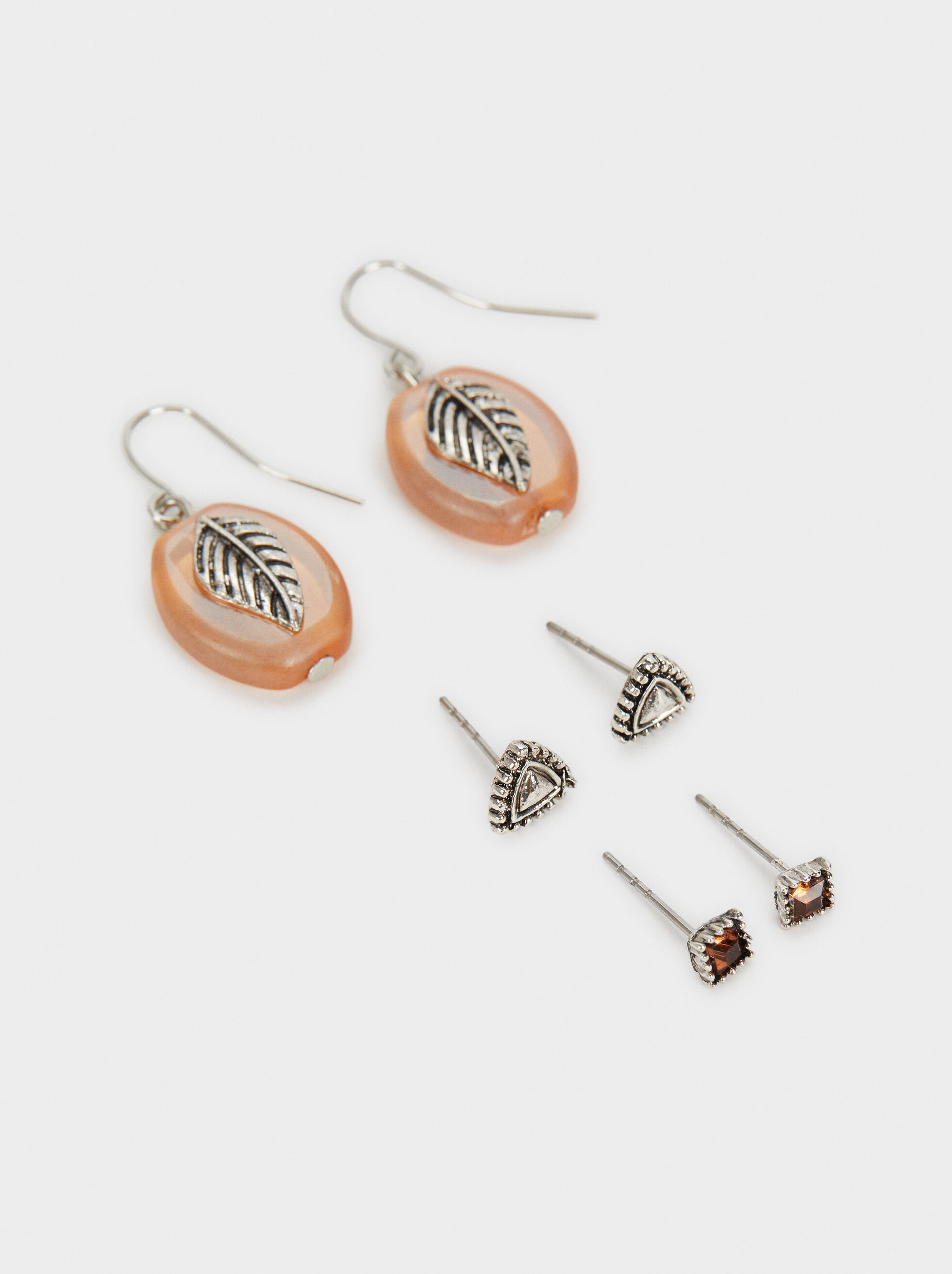 Star Valley Earring Set, Camel, hi-res